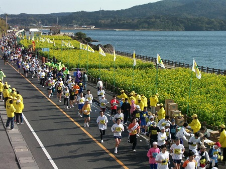 IBUSUKI RAPE BLOSSOMS MARATHON RACE 2017<br /> (IBUSUKI NANOHANA MARATHON TAIKAI<br /> / いぶすき菜の花マラソン大会)