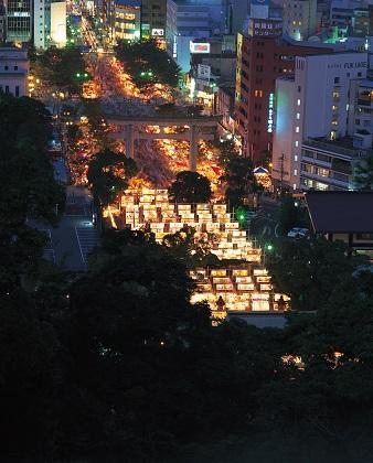 照国神社六月灯 (2016)